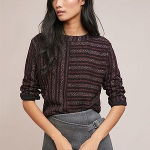 Anthro Akemi + Kin Celeste Striped Pullover